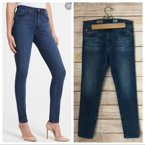 AG The Farrah Skinny High Rise Jeans.